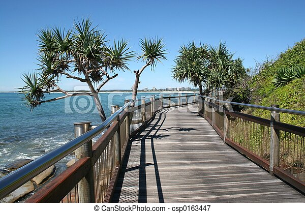 Seaside Boardwalk - csp0163447