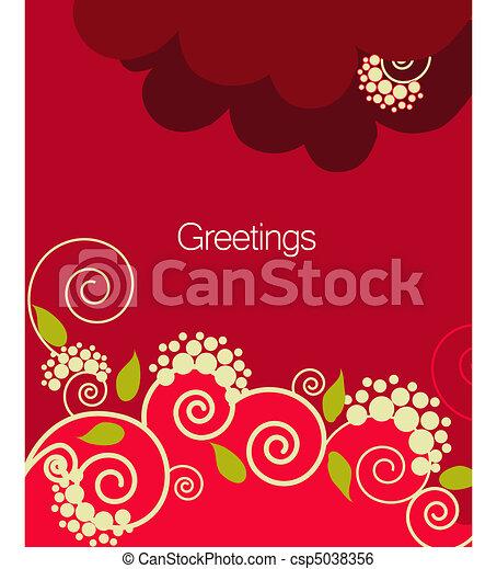 season greeting card - csp5038356