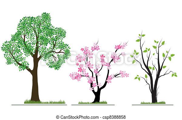 Season nature trees set - csp8388858