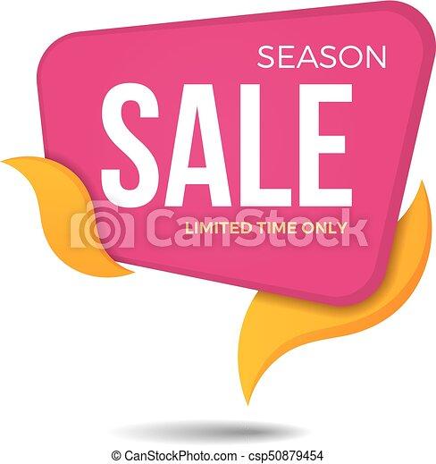 season sale label price tag banner sticker badge template design