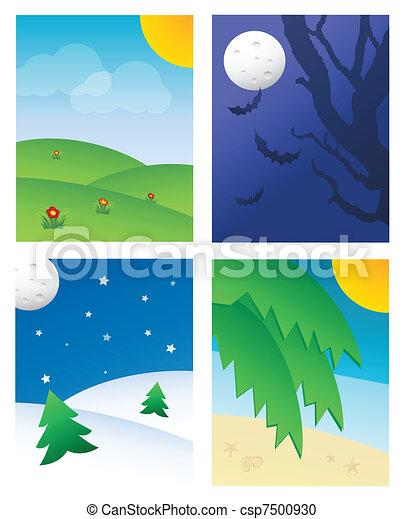 seasonal háttér - csp7500930