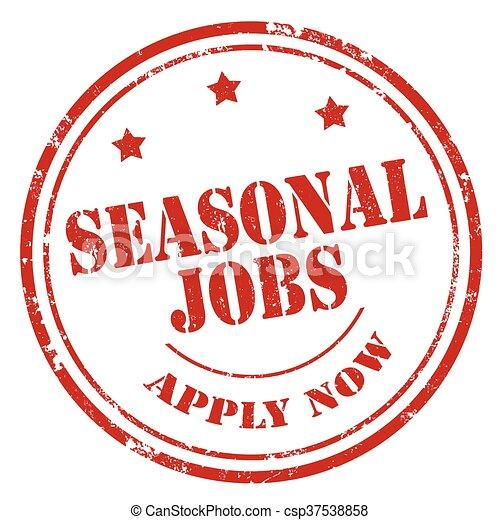 Seasonal Jobs-stamp - csp37538858