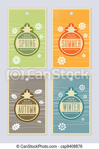 Seasonal Retail Labels - csp9408876