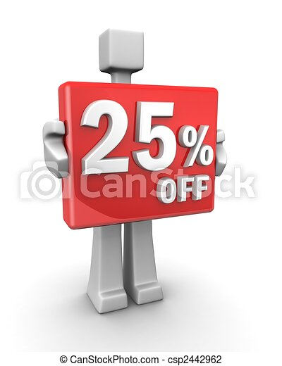 Seasonal sales 25 pecent off for shopping discount - csp2442962
