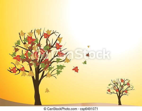 seasonal tree autumn - csp6491071