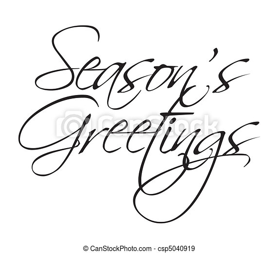 Seasons Greeting type - csp5040919