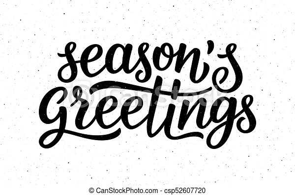 Seasons greetings calligraphy lettering text on white background seasons greetings calligraphy lettering text csp52607720 m4hsunfo