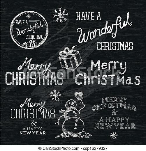 Season's Greetings Christmas Signs - csp16279327