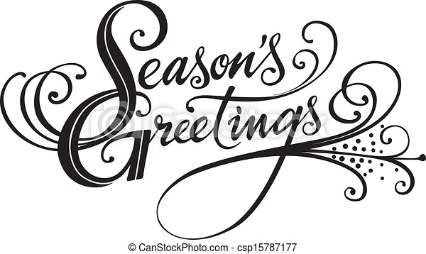 season s greetings vector version of my own calligraphy vectors rh canstockphoto com free seasons greetings clipart images seasons greetings clip art free
