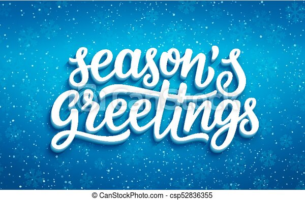 Seasons greetings lettering on blue background seasons clipart seasons greetings lettering on blue background csp52836355 m4hsunfo