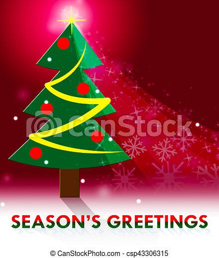 Seasons greetings means christmas greeting 3d illustration seasons greetings means christmas greeting 3d illustration m4hsunfo