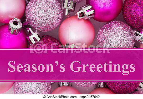 Seasons greetings message some pale and bright pink sparkle and seasons greetings message csp42467642 m4hsunfo