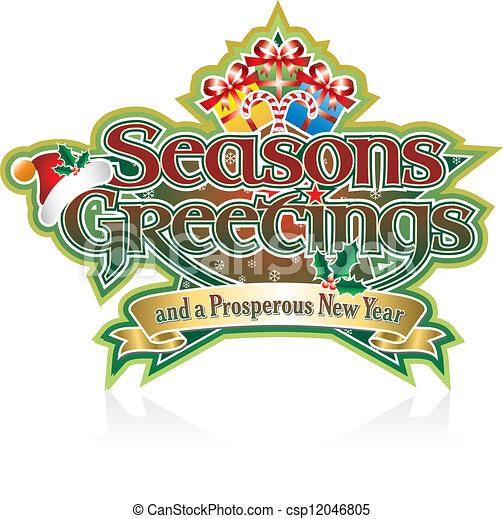 Seasons greetings presents seasons greetings lettering with seasons greetings presents csp12046805 m4hsunfo