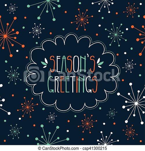 Season's Greetings - csp41300215
