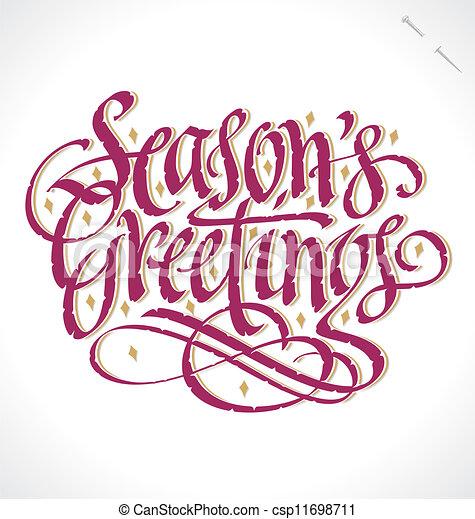 season s greetings vector season s greetings hand vector clip rh canstockphoto com seasons greetings clipart free download seasons greetings banner clipart
