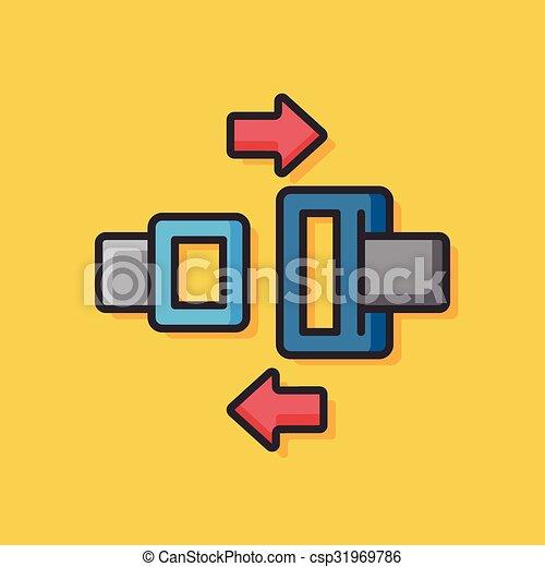 seat belt icon - csp31969786