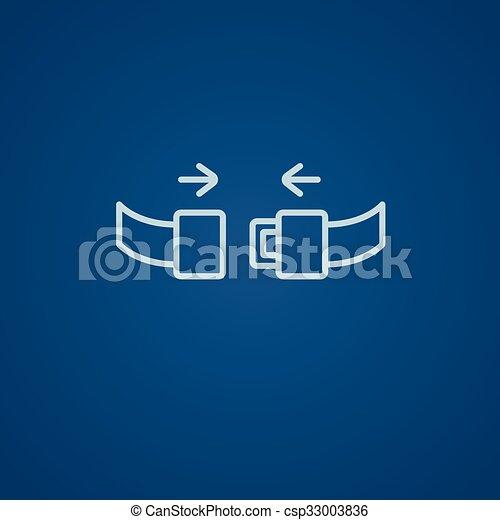 Seat belt line icon. - csp33003836