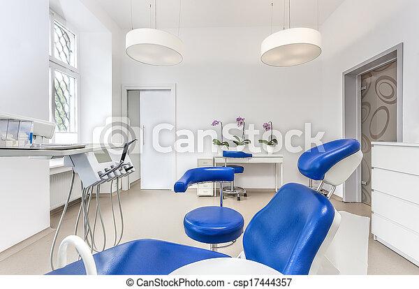 Seat in dentist room - csp17444357