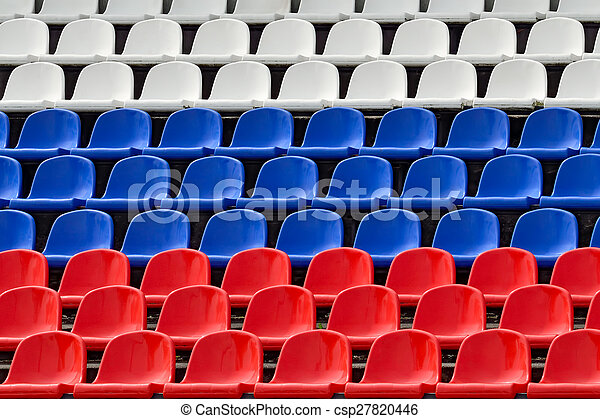 Seats in the colors of the Russian flag - csp27820446