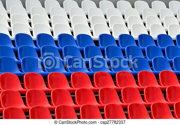 Seats in the colors of the Russian flag - csp27782337