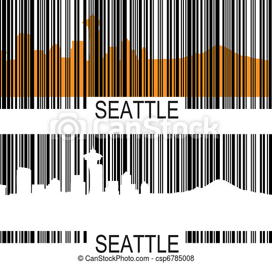 seattle barcode vector search clip art illustration drawings and