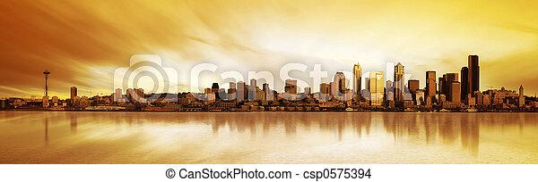 Seattle Panorama  - csp0575394