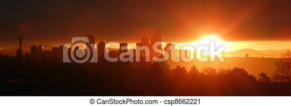Seattle Sunrise - csp8662221