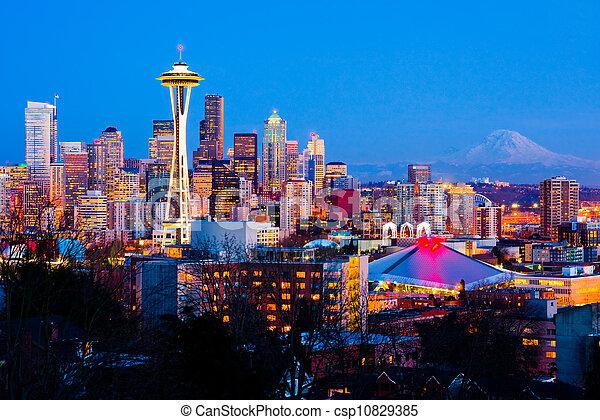 Seattle, Washington State - csp10829385