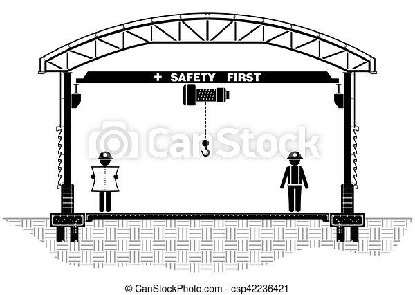 Sección, marco, fábrica, techo, vector, diseño, ilustración ...