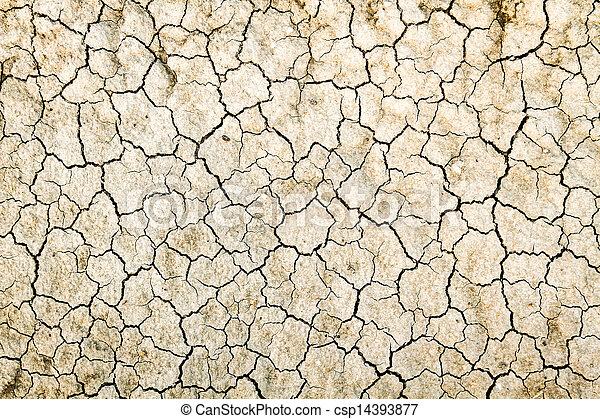 seco, agua, agrietado, tierra, sin - csp14393877