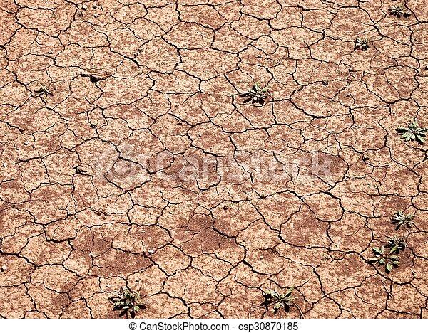 seco, agua, sin, agrietado, land., suelo - csp30870185