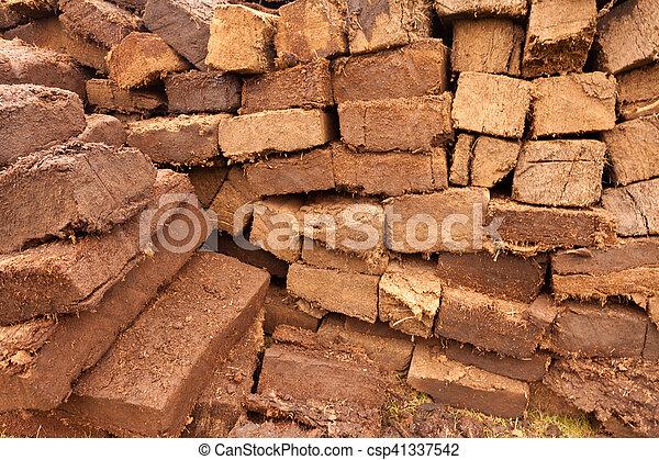Patrón de cortes de briquetas de carne seca - csp41337542