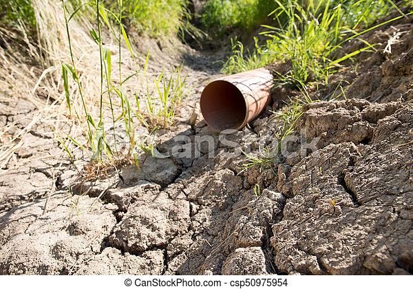 seco, verano, canal, agua, sin - csp50975954