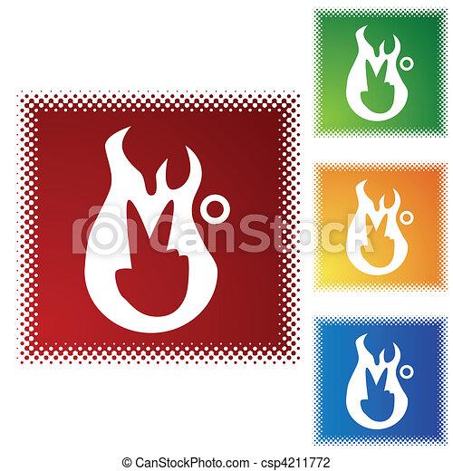 Second Degree Burn - csp4211772