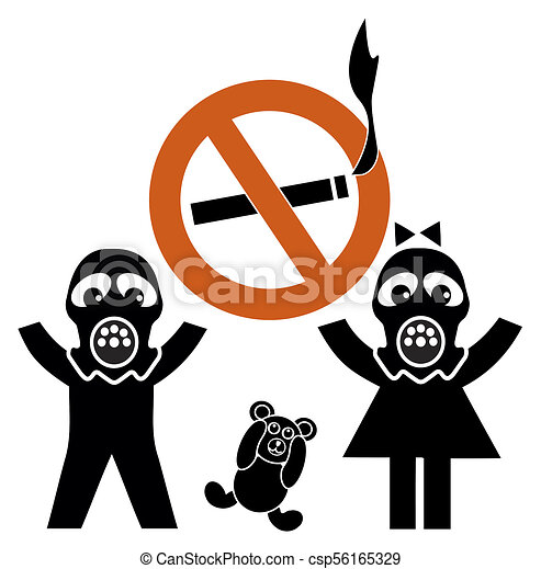 second hand smoke and children health risk for kids through clip rh canstockphoto com risk clipart free clipart risk assessment