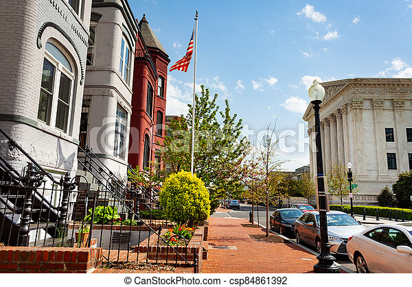 Second street and Supreme Court of United States - csp84861392