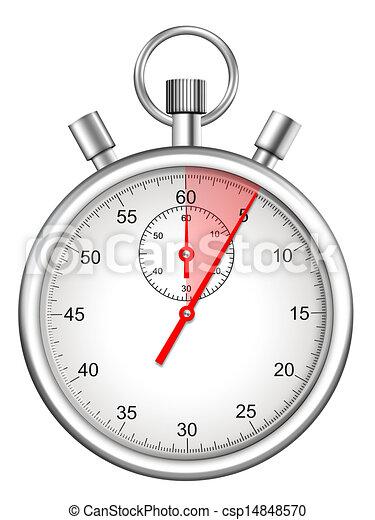 secondes, mis valeur, cinq, période, chronomètre - csp14848570