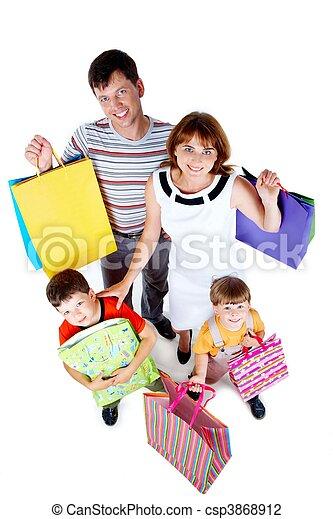 secondo, shopping, famiglia - csp3868912