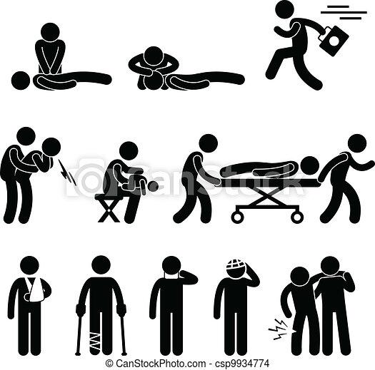 secours, urgence, aide, cpr, premier, aide - csp9934774