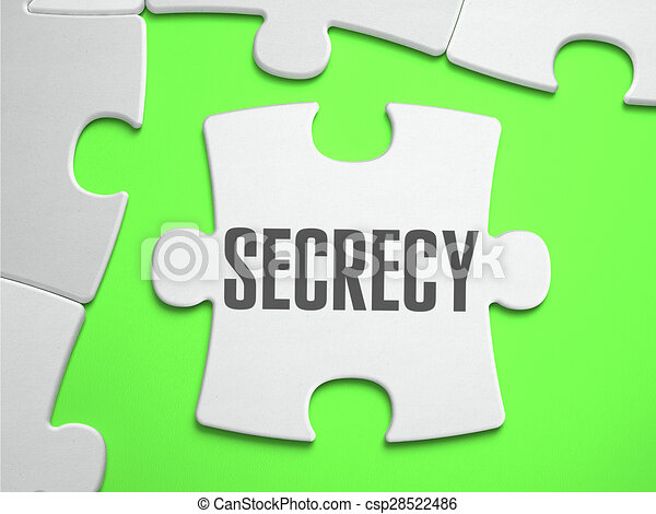 Secrecy - Jigsaw Puzzle with Missing Pieces. - csp28522486