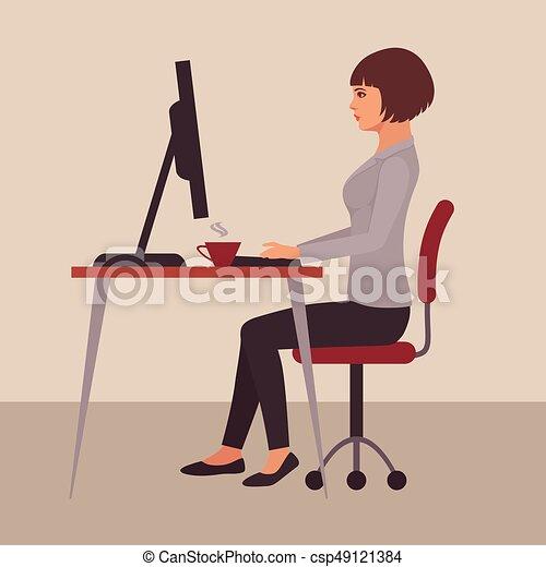 secretária, escrivaninha - csp49121384