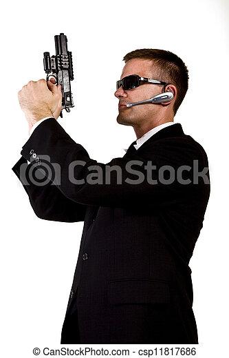 Secret Agent Armed and Dangerous - csp11817686