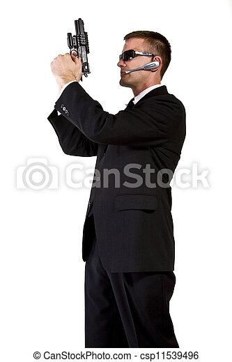 Secret Agent Armed and Dangerous - csp11539496