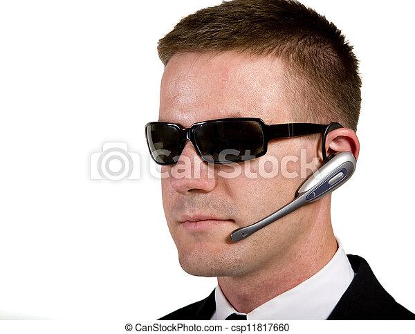 Secret Agent Listening - csp11817660