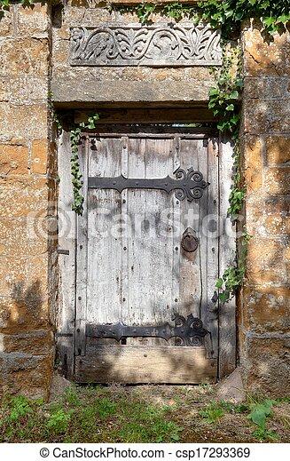 Secret garden door - csp17293369 & Secret garden door. Old doorway to cotswold manor house garden ...