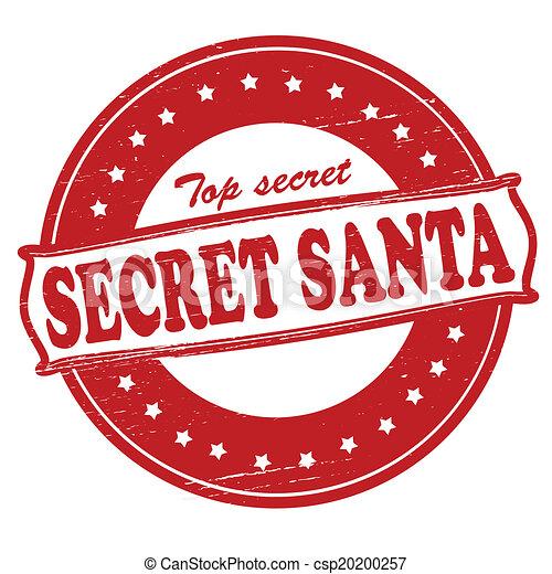 stamp with text secret santa inside vector illustration rh canstockphoto com Funny Secret Santa secret santa images clip art