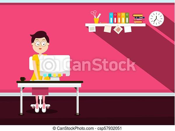 Secretary in Office - Vector - csp57932051