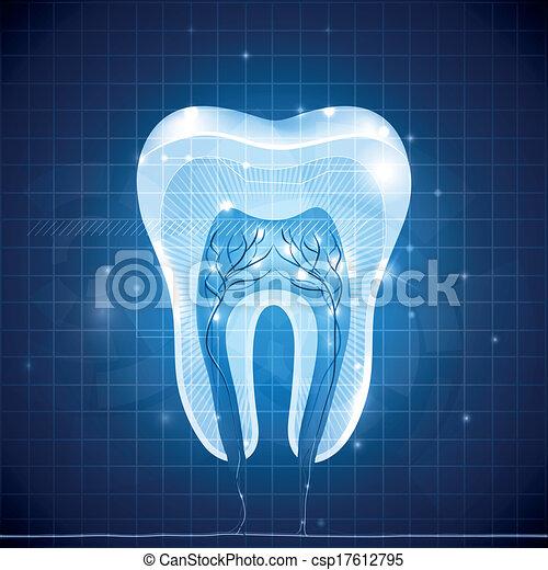 section, dent, résumé, croix - csp17612795