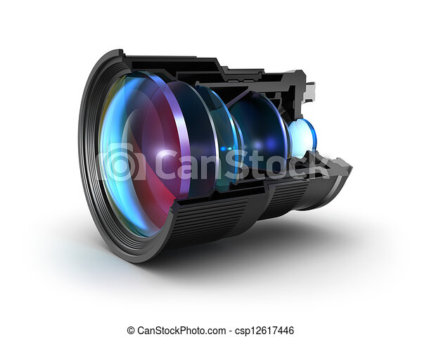 Sectional camera lens - csp12617446