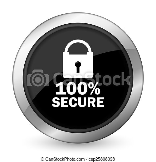 secure black icon - csp25808038
